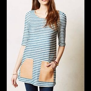 Anthropologie | POSTMARK striped pocket tunic